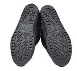 Pantoffels, wollen binnenzijde met rits, gevilte buitenzijde, rubberen zool._
