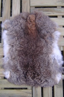 K4P52, konijnenvacht huid, 50x36cm, Size M