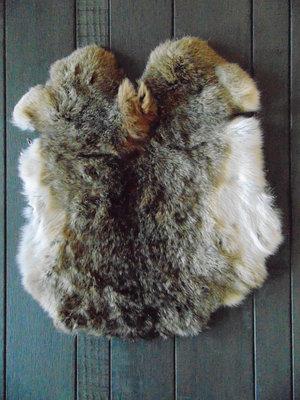 K2P62, konijnenvacht huid, 52x44cm