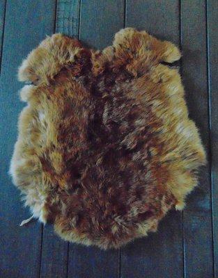 K6P62, konijnenvacht huid, 49x44cm