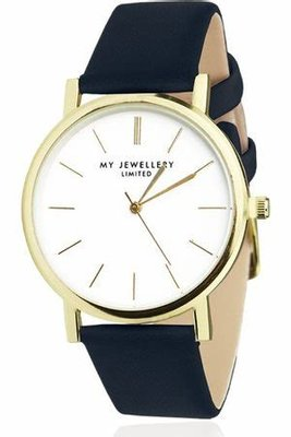 My Jewellery Limited Watch Dark Blue - Gold
