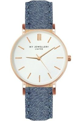 My jewellery limited watch small 2.0 - denim/rosegoud