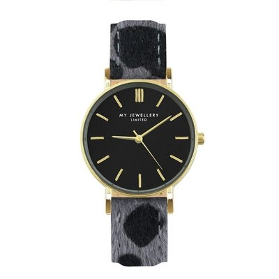 My Jewellery Leopard Watch - Grey/Gold