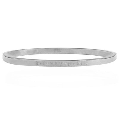 It's The Little Things In Life Bangle - Silver