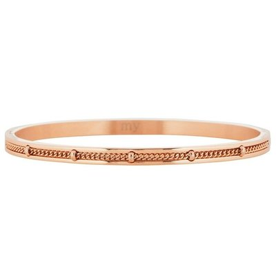Dotted Chain Bangle - Rose