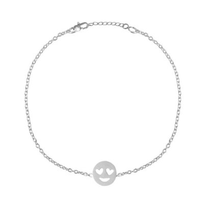 Tiny Bracelet Smiley - Silver