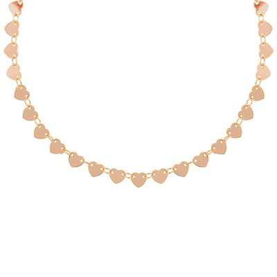 Heart Disc Choker - Rose