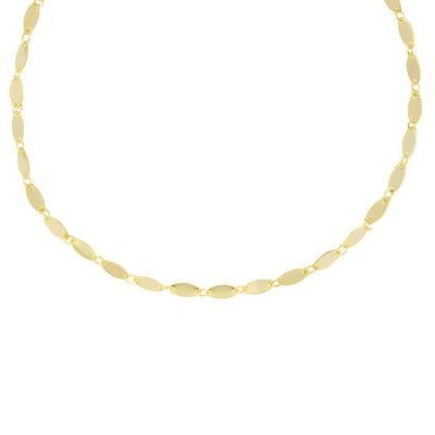 Oval Disc Choker - Gold