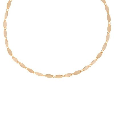 Oval Disc Choker - Rose