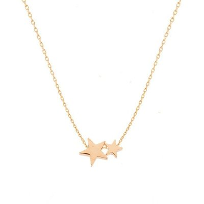 Double Star Necklace - Rose