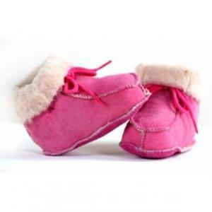 Babyslofje Pink, echt leder, mt 19 en 20