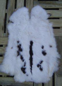 K25P52, konijnenvacht huid, 55x43cm, Size M