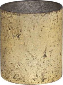 Waxinelichthouder 7x6cm goud