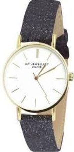 My Jewellery limited watch small 2.0 - black glitter/gold