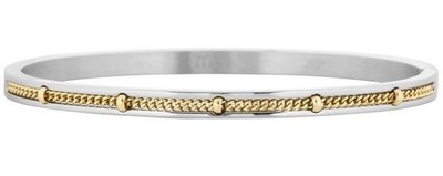 Dotted Chain Bangle Bicolor - Silver Gold