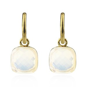 Square Stone Earrings Opalité - Gold