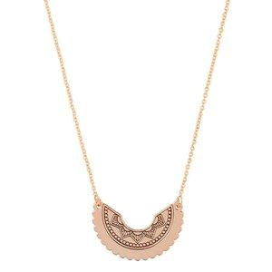 Tiny Boho Necklace - Rose