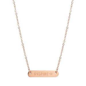 Bar Quote Necklace Inspire - Rose